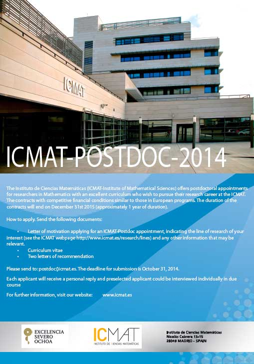 Poster ICMAT Postdoc 2014