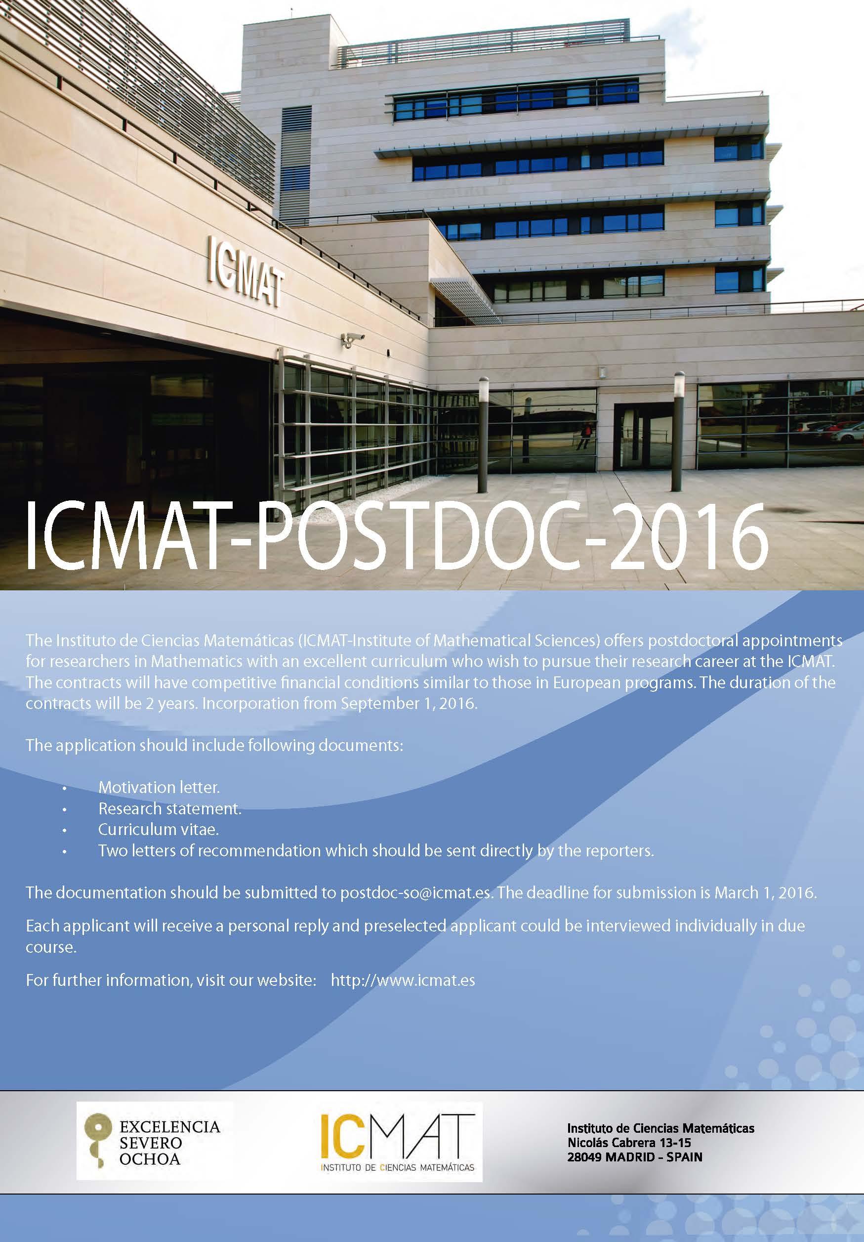 Poster ICMAT Postdoc 2016